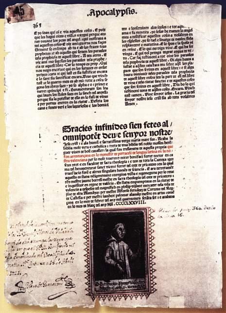Famosa manipulacio de la biblia valenciana per Sanchis Guarner