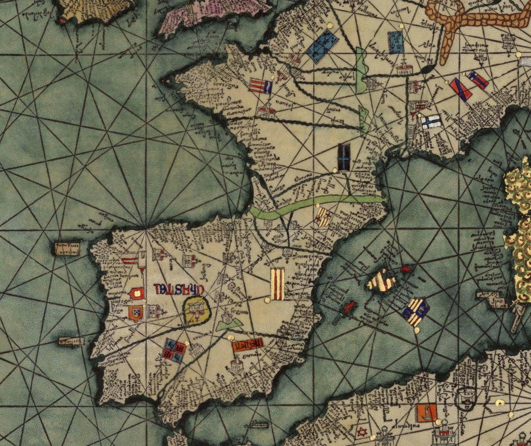 Manipulacions del mapa de Cresques Abraham (any 1375)
